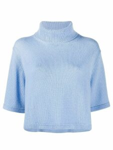 Prada cashmere roll-neck T-shirt - Blue