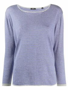Aspesi striped long-sleeve top - Blue