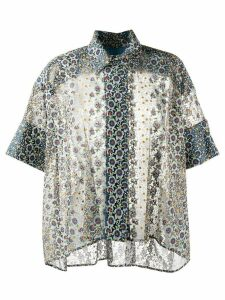 Antonio Marras geometric flared short-sleeve blouse - Black