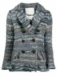 Giada Benincasa embroidered double-breasted blazer - Blue