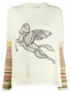 Etro knitted long sleeve top - White