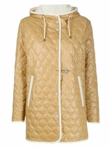 Fay quilt hooded padded jacket - NEUTRALS