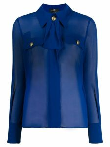 Elisabetta Franchi sheer tailored blouse - Blue