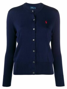 Polo Ralph Lauren logo embroidered cardigan - Blue