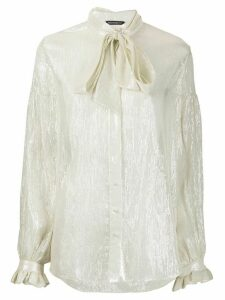Wandering bow blouse - NEUTRALS
