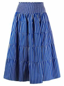 Prada high-waisted striped skirt - Blue