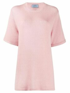 Prada cashmere oversized knitted T-shirt - PINK