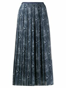 See by Chloé graphic print pleated skirt - Blue