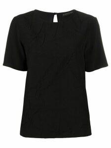 Etro silk short sleeve top - Black