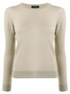Theory round neck jumper - NEUTRALS
