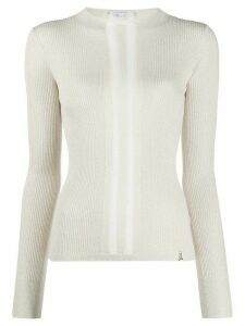 Patrizia Pepe knitted stripe jumper - NEUTRALS
