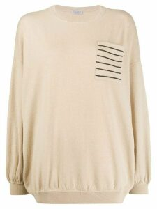 Brunello Cucinelli monili-embellished jumper - NEUTRALS