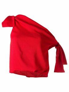 Hellessy asymmetric tie detail top - Red