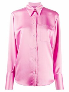 MSGM satin finish buttoned blouse - PINK