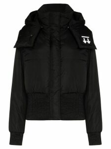 Off-White high neck long sleeve down jacket - Black