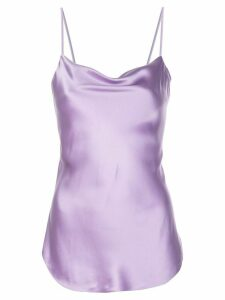 Cinq A Sept Marta silk cami top - PURPLE