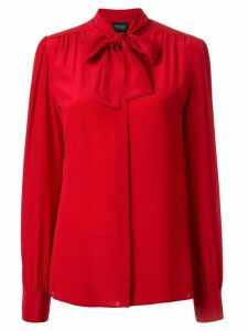 Giambattista Valli bow neck blouse - Red