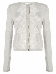 Giambattista Valli lace insert cardigan - Grey