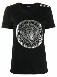 Balmain Coin logo print T-shirt - Black