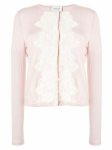 Giambattista Valli lace trim cardigan - PINK