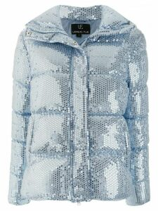 Unreal Fur sequin embellished padded jacket - Blue