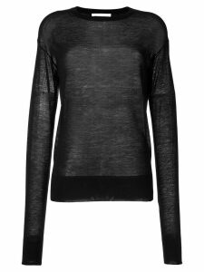 Helmut Lang sheer knit jumper - Black