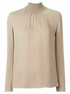 Theory high neck blouse - Brown