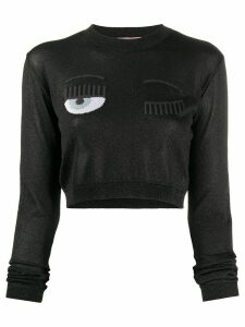 Chiara Ferragni Flirting cropped jumper - Black