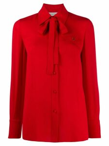 Valentino VGOLD pussybow collar blouse - Red