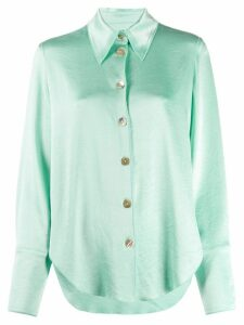 Nanushka satin shirt - Green