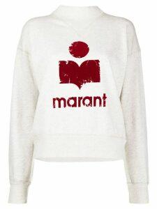 Isabel Marant Étoile Moby logo sweatshirt - NEUTRALS