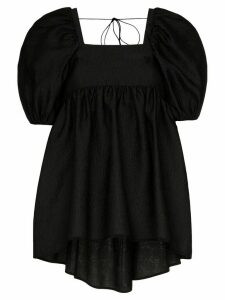 Cecilie Bahnsen open back blouse - Black