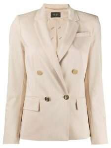 LIU JO double breasted blazer - NEUTRALS