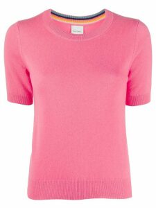 Paul Smith shortsleeved cashmere jumper - PINK