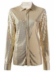 Bottega Veneta mirror-embellished long-sleeve shirt - NEUTRALS