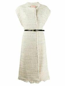 Twin-Set oversized tweed vest - NEUTRALS