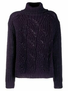 Ba & Sh Azure roll-neck jumper - PURPLE