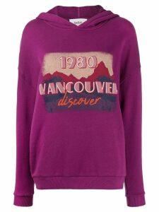 Ba & Sh Vancouver graphic print hoodie - PURPLE