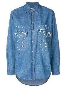 Forte Dei Marmi Couture Dyna embellished denim shirt - Blue