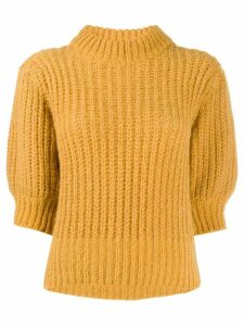 Ba & Sh Eric chunky knit jumper - Yellow