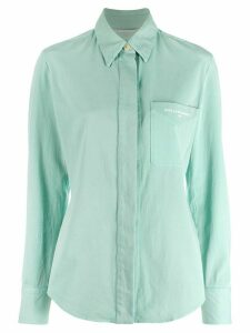 Stella McCartney embroidered logo slim shirt - Green