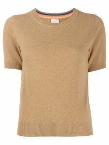 Paul Smith shortsleeved cashmere jumper - NEUTRALS