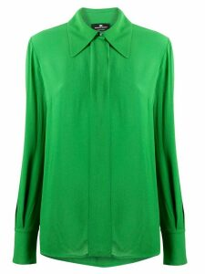 Elisabetta Franchi concealed button blouse - Green