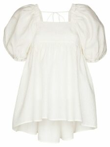 Cecilie Bahnsen Rita open back blouse - White
