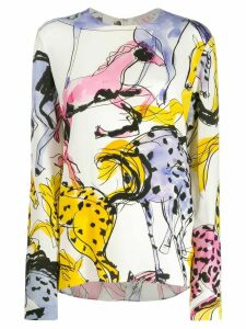 Stella McCartney horse print blouse - White