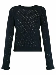 See By Chloé pointelle-knit sweater - Blue