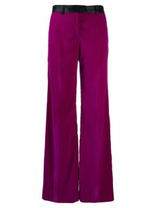 Paul Smith flared high-waisted trousers - PURPLE