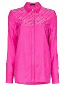 Versace logo-jacquard shirt - PINK