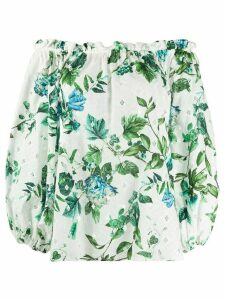 Blumarine off-shoulder floral blouse - White