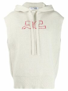 Courrèges ribbed sleeveless jumper - NEUTRALS